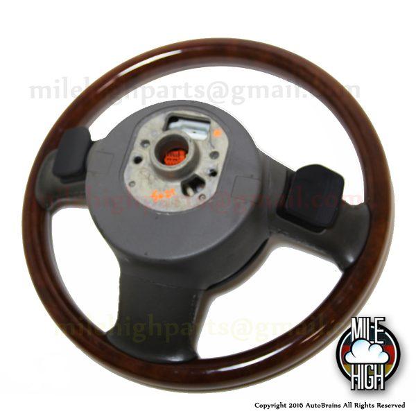 04-08 Audi A8 S8 D3 Wood Steering Wheel OEM w/Airbag Gray