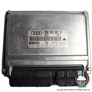 2000 Audi S4 V6 2.7L Engine Computer A/T B Box ECU ECM 8D0 907 551 B CHIPPED