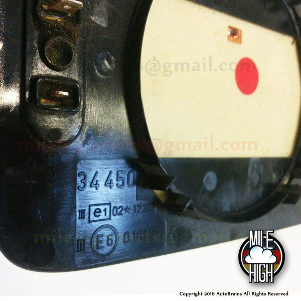 88-94 BMW 7 Series 735i 740i 750i E32 Driver LH Heated Mirror Glass OEM