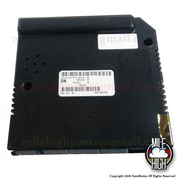 01 02 03 Dodge Dakota Durango Central Timer Alarm Control Body P56045453AG