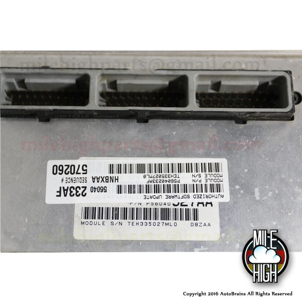 2001 Dodge Dakota OEM Engine Computer ECU ECM PCM 3.9L AT 56040 233AF 01
