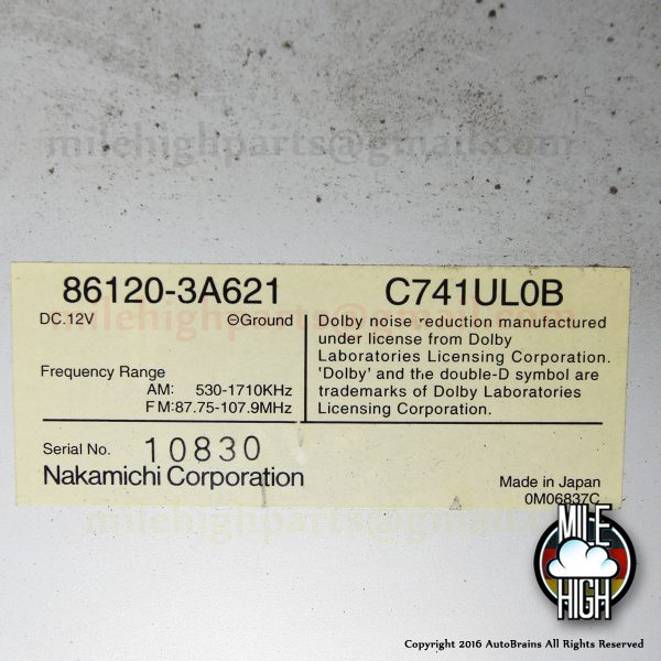 98-00 Lexus GS300 GS400 Nakamichi OEM Cassette Radio Stereo Head Unit Control