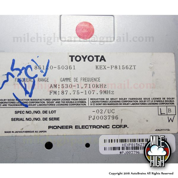 95-97 Lexus Pioneer Cassette Radio Stereo Head Unit Control *A GRADE LS400