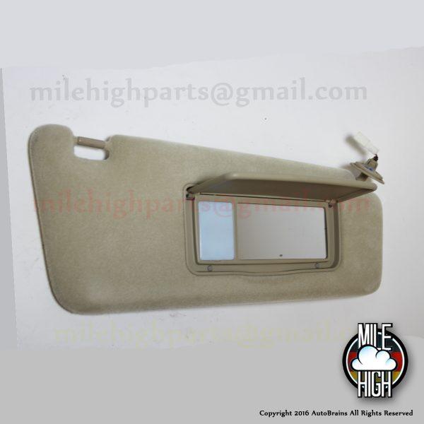 98-03 Lexus RX300 RH Passenger Sun Visor Beige Tan Ivory *A GRADE