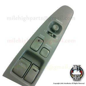 92-00 Lexus SC300 SC Master Window Switch Driver w/ Trim Gray
