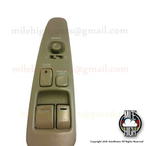 92-00 Lexus SC300 SC Master Window Switch Driver w/ Trim Tan