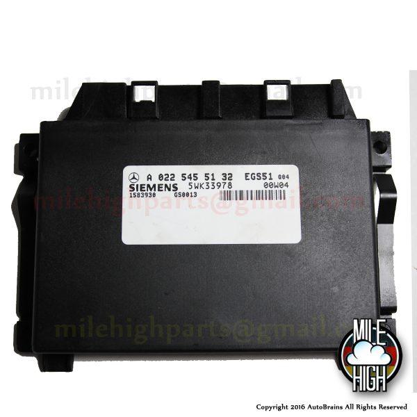 00 01 02 03 Mercedes S Class W220 Transmission Control Module TCM TCU S430 S500