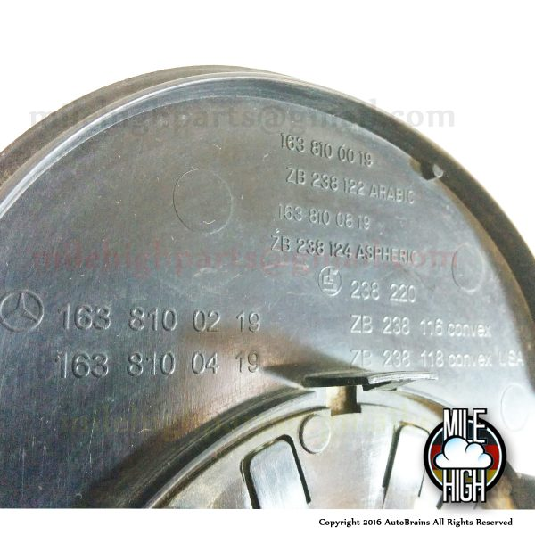 02-05 Mercedes ML W163 RH Passenger OEM Heated Mirror Glass *A Grade W163