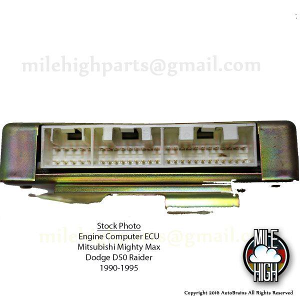 1990 Mitsubishi Mighty Max Dodge D50 Pickup Engine Computer ECU Cali 90