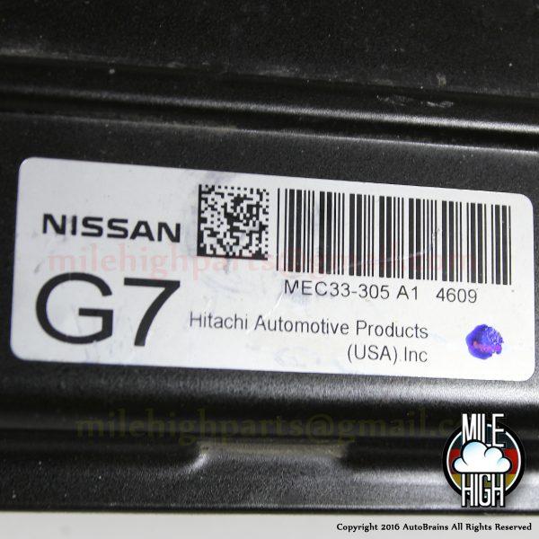 04 05 Nissan Sentra OEM Engine Computer ECU ECM MEC33-305 2004 2005 G7